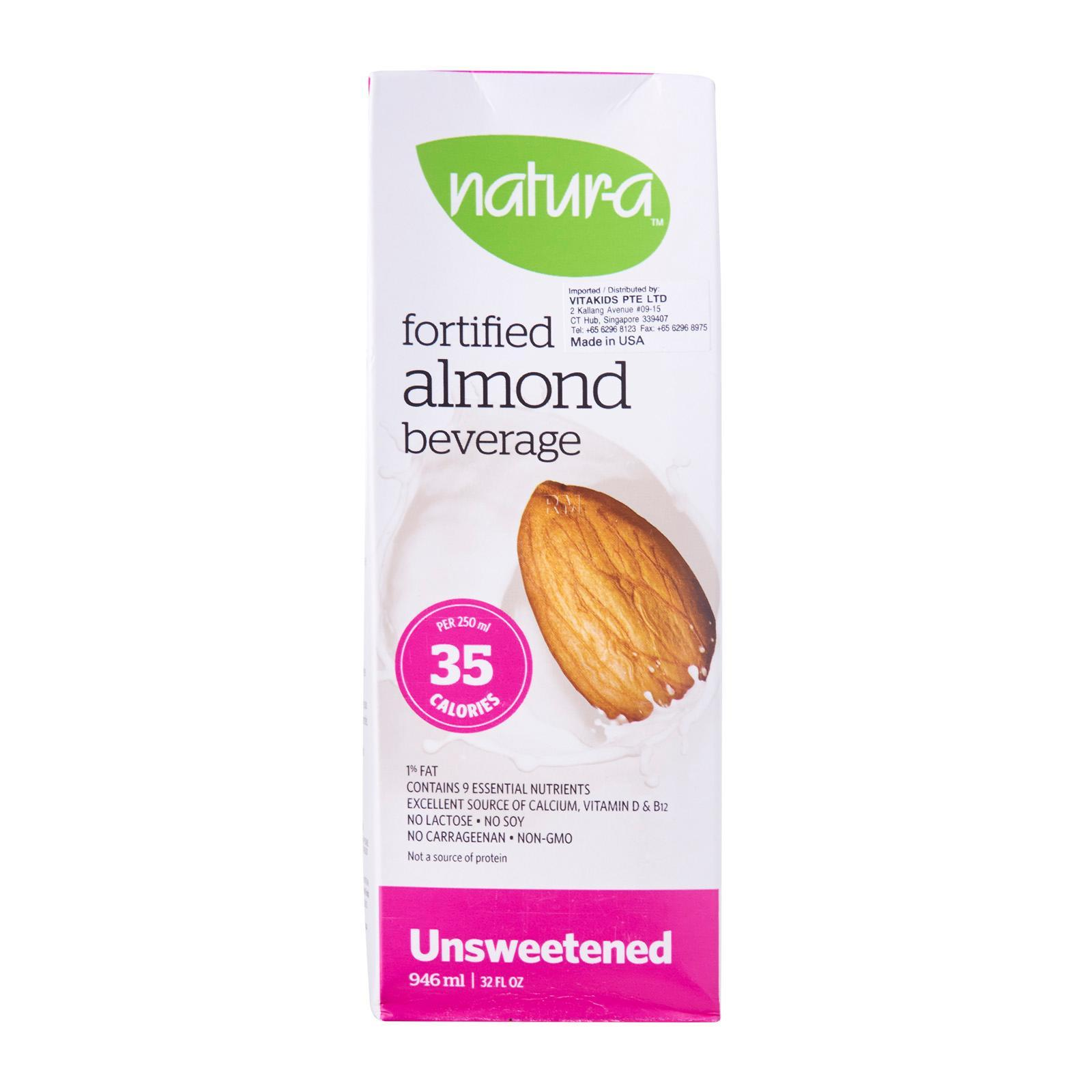 Natur-a Enriched Almond Beverage - Unsweetened Soy Dairy Free Milk