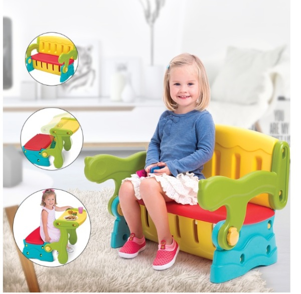 3 in 1 Kids bench children Chair Table Storage Toy Storage box dining study table bench