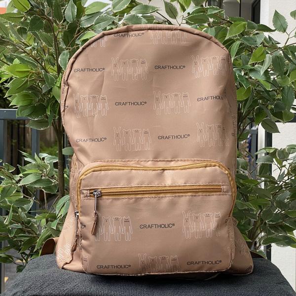 Foldable Backpack Caramel