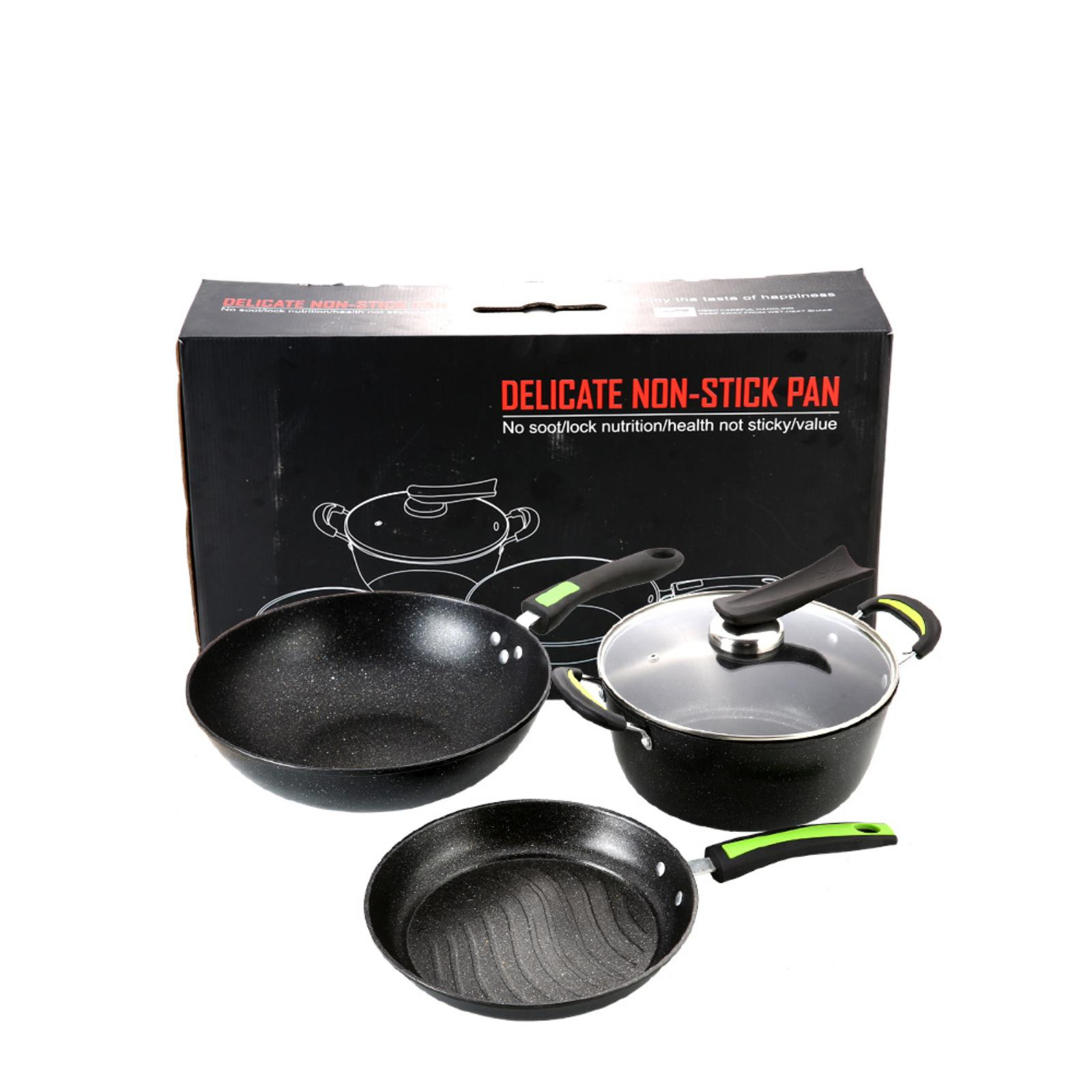 Jiji (granite Nonstick Thermo 3pc Cookware Set) - Kitchen / Pots / Pans / Wok (sg) By Jiji.