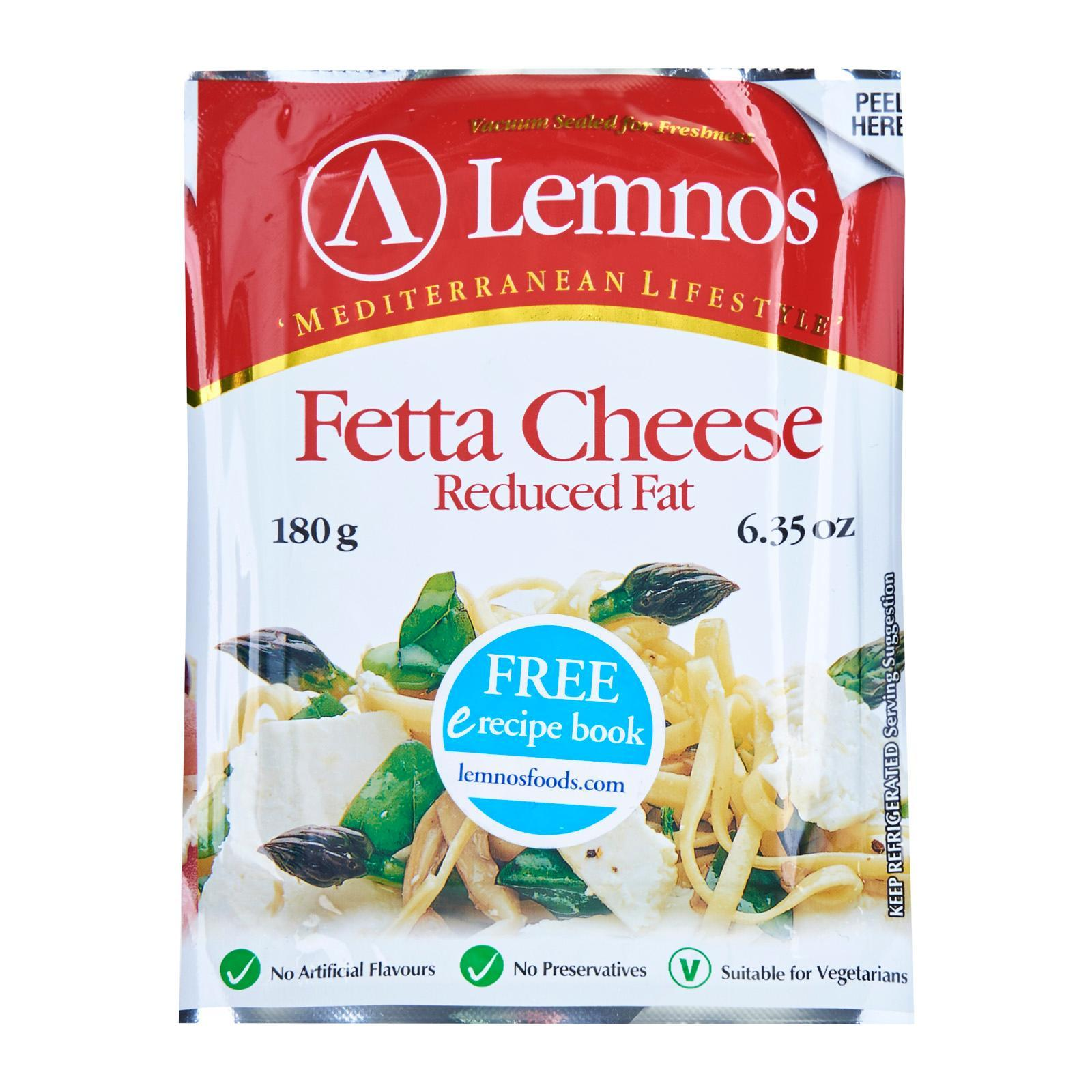 Lemnos Reduced Fat Fetta Cheese By Redmart.