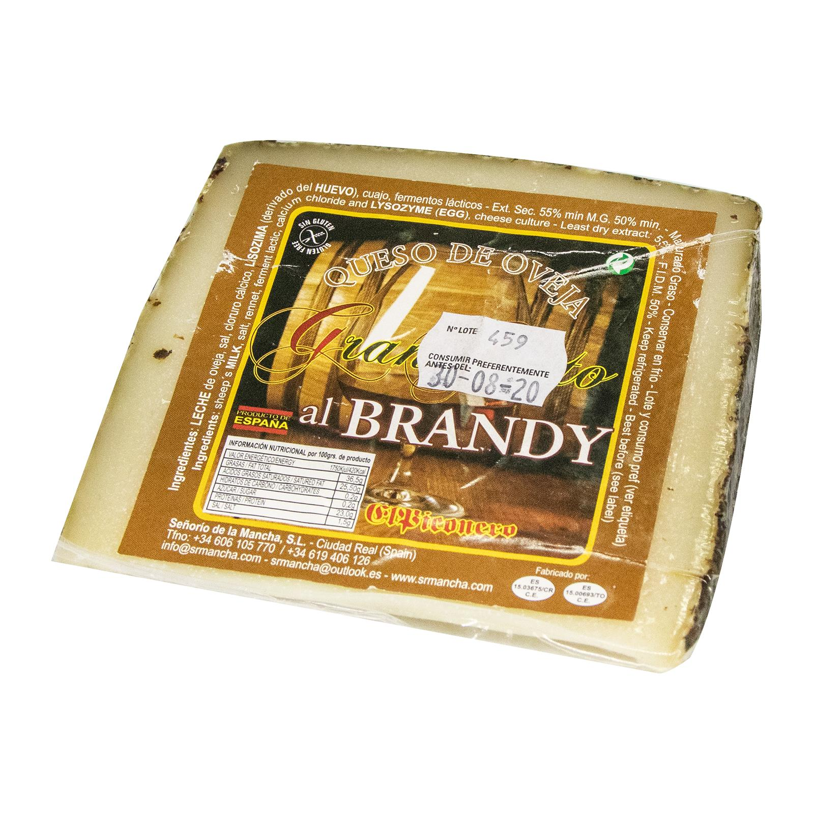 Bonvallis Spanish Cheese Gran Gusto Queso de Oveja Al Brandy - Sheep Cheese with Brandy