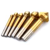 Review 6Pcs 3 Flute Edge 90 Degrees Countersink Hss Drill Bit Wood Steel Aluminum 6 3Mm 8 3Mm 10 4Mm 12 4Mm 16 5Mm 20 5 Mm Ht547 On China
