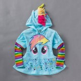 Compare Price 8Y Girls Kids Children Hoodie My Little Pony Wings Sweatshirt Coat Jacket Light Blue Skater Dress On China