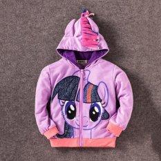 Purchase 8Y Girls Kids Children Hoodie My Little Pony Wings Sweatshirt Coat Jacket Purple Twilight Sparkle Online