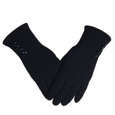 1 Pair Of Women Touch Screen Sensitive Gloves Cashmere Solid Color Winter Warm Glove - Intl By Stoneky.