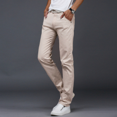 Buy 10 Colors Men Thin Pant Business Or Casual Style Trousers Straight Long Pants Beige Intl Oem Original