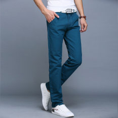 10 Colors Men Thin Pant Business Or Casual Style Trousers Straight Long Pants Lake Blue Intl Reviews