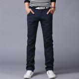 Compare 10 Colors Men Thin Pant Business Or Casual Style Trousers Straight Long Pants Navy Blue Intl