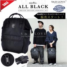Buy 100 Authentic Anello Backpack New 2017 Web Limited Edition Model Color All Black Ec B001 Anello Original
