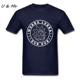 How To Get 100 Cotton Mens Short T Shirts Family Rick And Morty Custom Wubba Lubba Dub Dub Plain Fashion T Shirt Navy Blue Intl