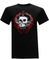 Purchase 100 Cotton Skull Custom Men S Short Sleeve Black T Shirt Intl Online