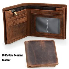 100 Top Quality Cow Genuine Leather Men Wallets Luxury Zipper Bifold Short Style Male Purse Carteira Masculina Intl Coupon Code