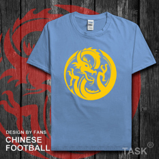 Low Price 12 Printed Short Sleeved World Cup Fans T Shirt Chinese Dragon Short Sleeved Carlo To Carolina Blue Yellow Word