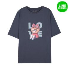 Cheapest 17Ss *D*Lt 70 Cotton 30 Polyester Round Neck Short Sleeve Loose Fit T Shirt Love Choco Nv M Online