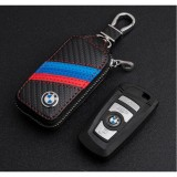 Sale 1Pc Carbon Fiber Embossed Leather Car Keys Case Holder For Bmw X1X3X4X5X6 E60 E90 F10 F30 F15 Intl China