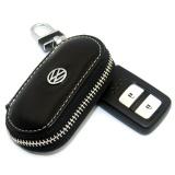 Sale 1X Black Leather Key Wallet Car Key Case Leather Key Holder For Vw Passat Tiguan Scirocco Series Intl Online China
