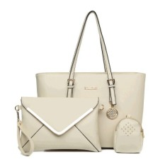 Top Rated Women S European And American Style Stylist Large Bag Beige Beige