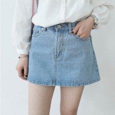 2015 Summer New Korean Wild Basic Light Blue Washed Denim Skirt A Word Skirt Oem Cheap On China