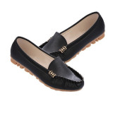Compare Price 2015 Women Artificial Leather Flats Slip On Moccasins Ballet Loafer Boat Shoes On Singapore