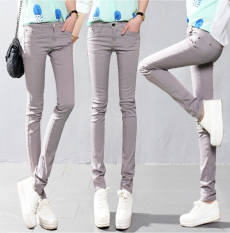 Sale 2016 Candy Color Women Ladies Stretch Pencil Pants Casual Slim Fit Denim Jean Skinny Trousers Oem On China