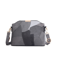 Compare 2016 Fashion Pu Leather Shoulder Sling Bag Gray Prices