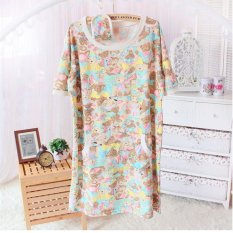Discount Bear Summer Pregnant Women Can Be Outer Wear Cute Cotton Short Sleeved Nightgown Oem On China