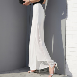 Discount Korean Style Chiffon New Style Spring Summer Wide Leg Pants Yx 1316 White Oem