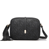 Get Cheap 2016 New Fashion Pu Leather Shoulder Sling Bag Tassel Bag Black