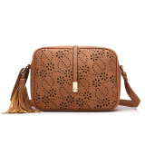 2016 New Fashion Pu Leather Shoulder Sling Bag Tassel Bag Brown Deal