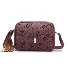 Discount 2016 New Fashion Pu Leather Shoulder Sling Bag Tassel Bag Purple Oem