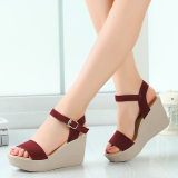 Buy Qianzibaiying Women S Platform Sandals Red Wine Red Wine Cheap China