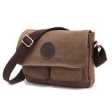 Buy 2016 New Men S Vintage Canvas Leather Satchel Military Shoulder Bag Messenger Bag Coffee On China