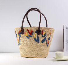 Cheapest Fresh Embroidered New Style Woven Bag Straw Bag Online