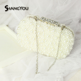 Recent New Style Bride Pearl Chain Korean Style Banquet Bag