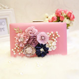 Sale Women S Korean Style Pearl And Flower Clutch Watermelon Powder Watermelon Powder Oem On China