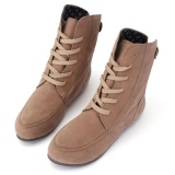 Best Offer 2016 New Womens Ankle Boots Lace Up High Top Flat Wedge Shoes Winter Sneakers Intl