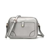 2016 Pu Leather Shoulder Sling Bag Female Messenger Bag Silver Shop
