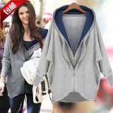 Mm Korean Style Spring And Autumn Women S Plus Sized Loose Hoodie Casual Jacket Oem Discount