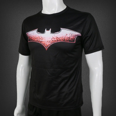 Buy Batman Stylish Round Neck Short Sleeved Quick Drying Clothes T Shirt Black Red Black Red Online