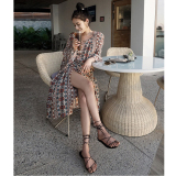 Bohemian Printed Dress Red Red Free Shipping