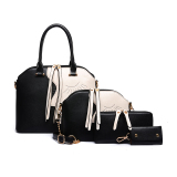 Best Rated The New Shell Tote With Pouch Ladies Bag Black Black