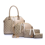 The New Shell Tote With Pouch Ladies Bag Golden Embossed Quilted Golden Embossed Quilted In Stock