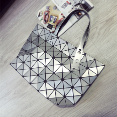 Compare Women S Diamond Grid Shiny Pieces Bag Silver Silver
