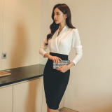 Best Reviews Of Women S Korean Style Slim Fit Slit Long Sleeve Dress