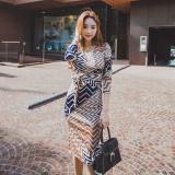 New Debutante Fashion New Style Female V Neck Dress
