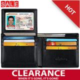 2017 Best Quality Rfid Anti Scanning Purse Men S Leather Tri Fold Wallet Black Cheap