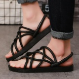 2017 Couple Men Hollow Sneakers Beach Sandals Size37 44 Slip On Loafer Slipper Open Toed Flat Female Sandals Shoes Black Intl Compare Prices