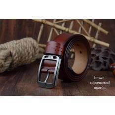 2017 Cowhide Genuine Leather Belts for Men Brand Male Strap Pin Buckle Fancy Vintage Jeans (