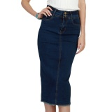 Who Sells 2017 Denim Skirt Vintage Button High Waist Pencil Saia Blue Slim Women Skirts Plus Size S 3Xl Ladies Office S*xy Jeans Faldas Intl Cheap